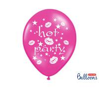 Balony 30cm, Hot party, Metallic Hot Pink, 6szt.