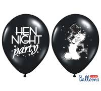Balony 30cm, Hen night party, Pastel Black, 50szt.