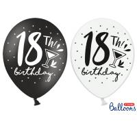 Balony 30cm, 18th! birthday, mix, 50szt.