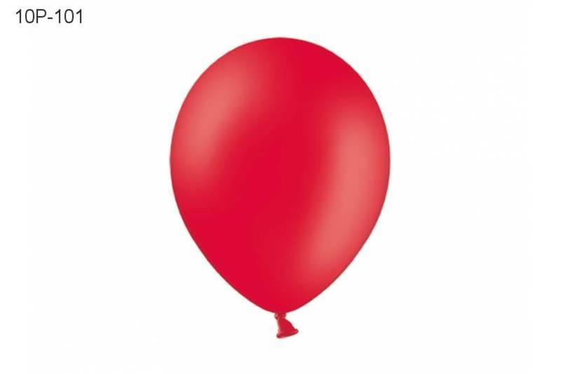 Balony 10. Pastel Red. 1op.