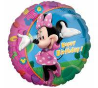 Balon foliowy 18'' CIR Minnie Happy B-day. 1szt.