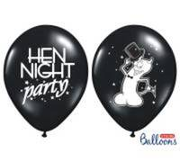 Balony 30cm. Hen night party. Pastel Black. 1szt.