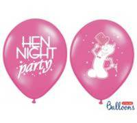 Balony 30cm. Hen night party. P. Hot Pink. 1szt.